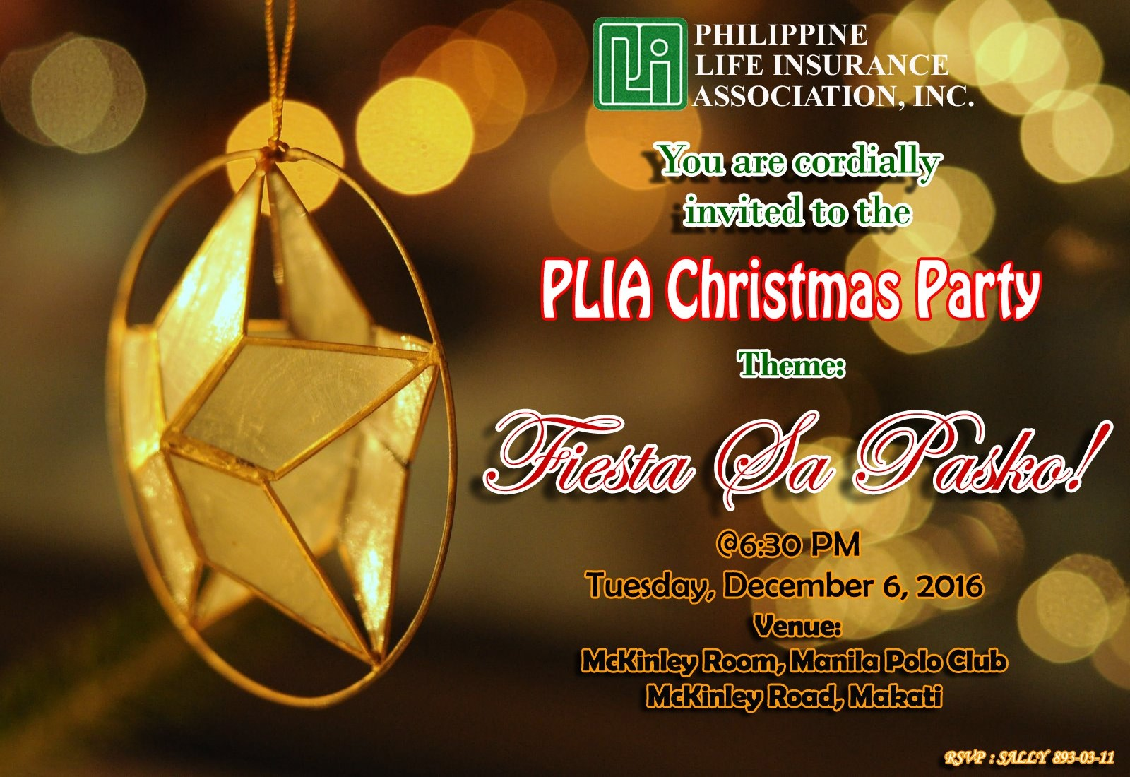 PLIA Christmas Party 2016